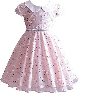 05dc270381cd8 Cinda Robe de Fête d été en Coton à Fleurs en Fleurs