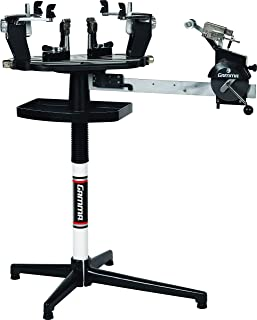 Gamma Professional Tennis Racquet Stringing Machine: Standing Racket String Machine with Digital Control Panel, Tools and Accessories Included – Tennis, Squash, Badminton, 2pt or 6pt