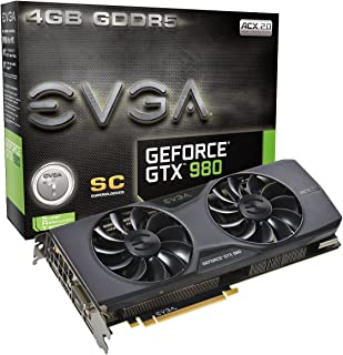 EVGA GeForce GTX 980 4GB SC GAMING ACX 2.0, 26% Cooler and 36% Quieter Cooling Graphics Card 04G-P4-2983-KR