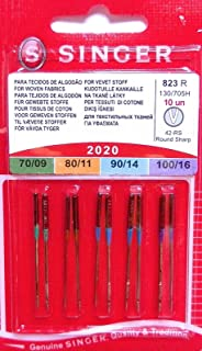 Singer Machine Needle, 10 Count, Size 9, 11, 14, 16 Pkg