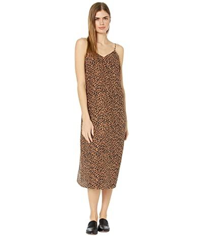 Madewell Printed Slip Dress (Brushed Leopard Warm) Women