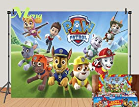 paw patrol birthday background