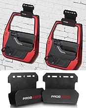 PROBASTO Jeep Wrangler Door Storage Hanger Bracket for All Jeep Wrangler CJ YJ TJ LJ JK JKU JL and New Gladiator, Pack of 2 Jeep Wrangler Accessories