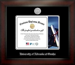 Celebration Frames University of Nebraska at Omaha 8½ x 11 Mahogany Finish Infinity Diploma Frame