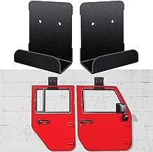 Door Hanger Removable Wall-Mounted Door Storage Rack Bracket for All Jeep Wrangler CJ YJ TJ LJ JK JKU and 2018 2019 JL JLU (2 Pcs/Set)