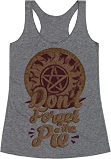 LookHUMAN Don't Forget The Pie Heathered Gray Women's Racerback Tank