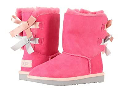 UGG Kids Bailey Bow II (Little Kid/Big Kid) (Pink Azalea/Icelandic Blue) Girls Shoes