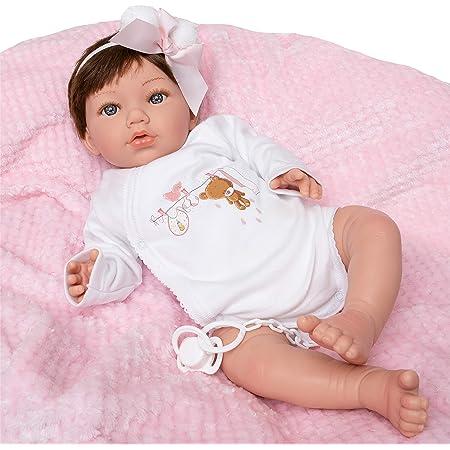MARÍA JESÚS Bambole Reborn in VINILE IN SILICONE, Rossore e Peso Speciale 2kg, Bambola Reborn con EFFETTO CADUTA DELLA TESTA, Bambole Reborn Femmine 50cm, Bambola Reborn Femmina con Molti Accessori