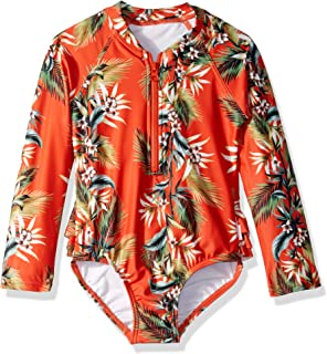 Seafolly Girls Long Sleeve Tank One Piece Swimsuit One Piece Swimsuit
