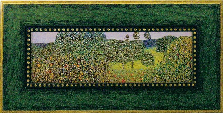 空気パウダーメロディアスユーパワー Klimt グスタフクリムト Gel加工アートフレーム フィールドオブポピー GK-07016