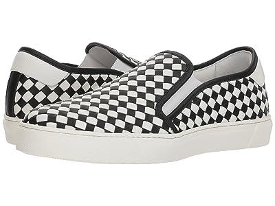 Bottega Veneta Checker Slip-On Sneaker (Black/White) Men