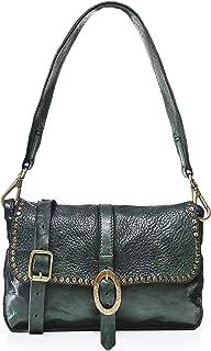 Campomaggi Women's Studded Leather Shoulder Bag Green
