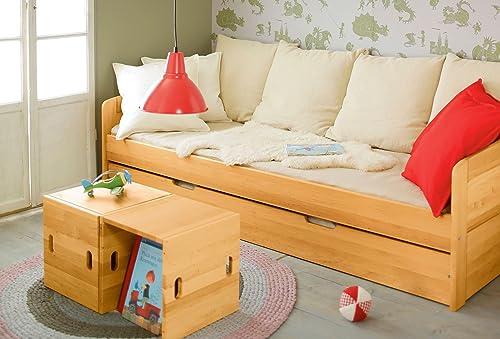comprar ahora BioKinder 22776 Ahorro Conjunto  sofá-cama Nico con con con compartimento colchón. Madera solido biologico  mejor opcion
