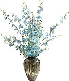 cn-Knight Artificial Flower 10pcs 100cm Long Stem Silk Dancing Lady Orchid Lifelike Oncidium for Store Window Dressing Lob...