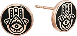 Hamsa Post Earrings - Precious Metal