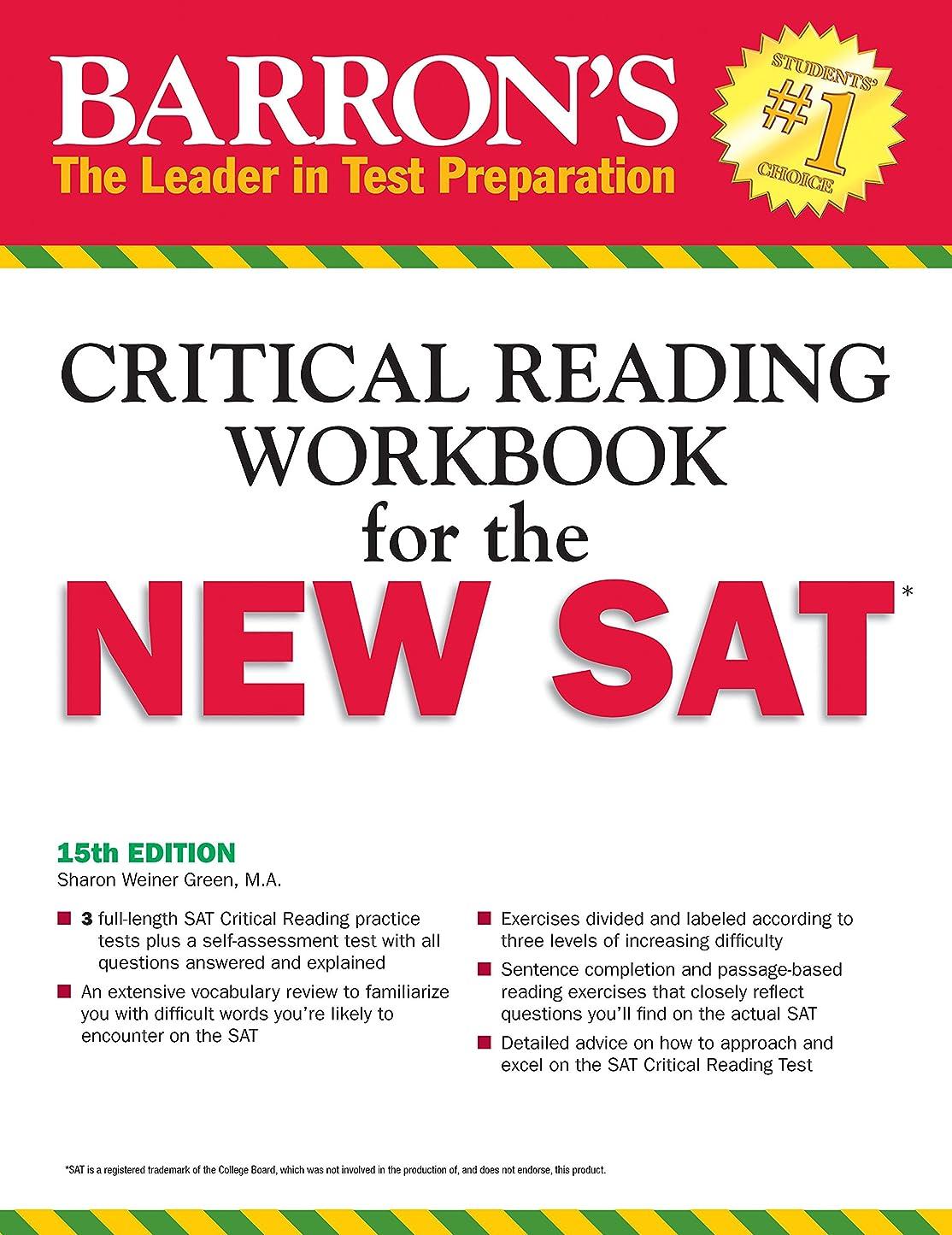 トランペット項目規制Barron's Reading Workbook for the NEW SAT (Critical Reading Workbook for the Sat)