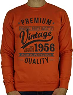 1956 Vintage Year - Aged To Perfection - 65th Birthday Gift / Present Mens Sweatshirt