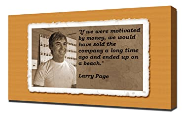 Larry Page Quotes 1 - Canvas Art Print