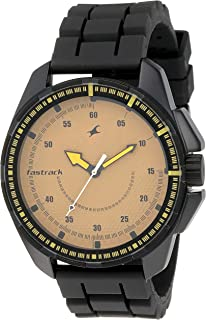 Fastrack Commando Analog Brown Dial Men's Watch -NK3084NP01
