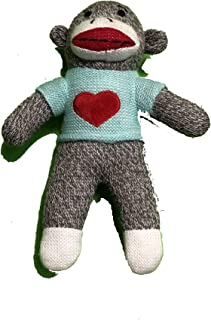 Dandee Sock Monkey Stuffed Plush Animal Toy Collector's Choice 10.5