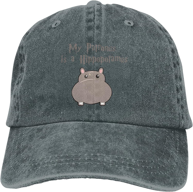 CUTEDWARF My Patronus is A Hippopotamus Unisex Adjustable Cotton Baseball Hat Cowboy Cap Dad Hats Denim Trucker Hat