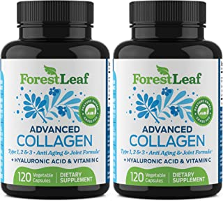 Advanced Collagen Supplement, Type 1, 2 and 3 with Hyaluronic Acid and Vitamin C - Anti Aging Joint Formula - Boosts Hair,...