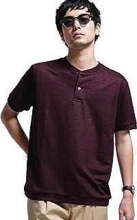 [ナノユニバース] Tシャツ keep shape jersy ヘンリーネック メンズ