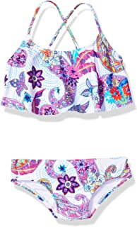 Kanu Surf girls Melody Paisley Flounce Bikini Beach Sport 2-Piece Swimsuit Bikini Set