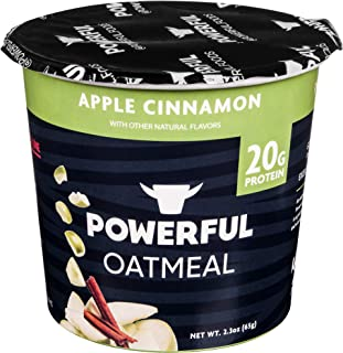Powerful High-Protein Instant Oatmeal, Natural Ingredients, Kosher, 20g Protein, Apple Cinnamon (6 Pack)