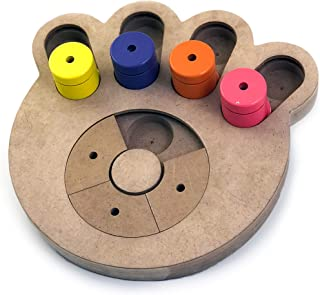 Brainiac Busy Paw - Fun Food Dispensing Interactive Pet Dog Toy - Good for Behavioral Training and Mental Health