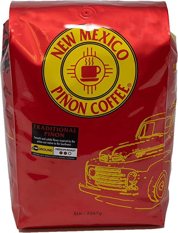 New Mexico Pi On Coffee Naturally Flavored Coffee Traditional Pi On Ground 5 Pound