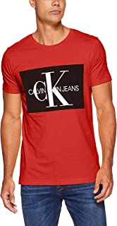 Calvin Klein Jeans-J30J307843-Men-S/S T-Shirts-Racing Red-Xxl