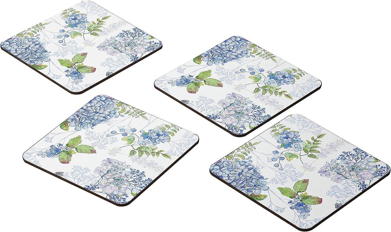 Bonamaison Coasters New item - Bargain sale Set of 4 E 9x9CM -Premium Absorbent MDF