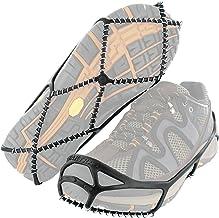 Yaktrax Walk Ice & Snow Grips voor wandelschoenen, elastische rubberen band & 1,2 mm stalen spoelen, biedt tractie in ijs...