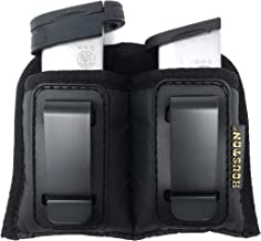 Double Concealment Tactical Magazine IWB Pouch – Houston - ECO Leather Multi Use Pouch Single and Double Stack .380 .9mm .40 and .45 Cal