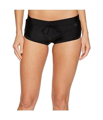Body Glove Smoothies Sidekick Sporty Swim Short (Black) Women