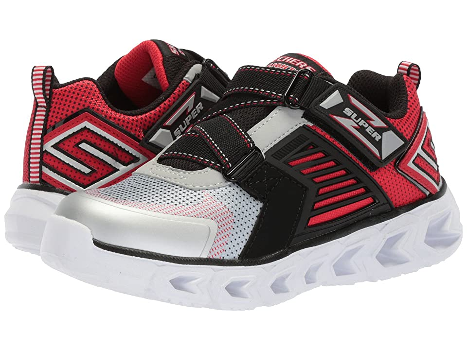 SKECHERS KIDS Hypno Flash 2.0-Rapid Quake 90587L Lights (Little Kid/Big Kid) (Silver/Black) Boy