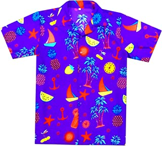 purple hawaiian shirt mens