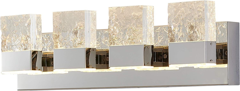 超定番 Dyconn 正規販売店 Faucet Regal Vanity Light w Ice Acrylic Block De Clear 4