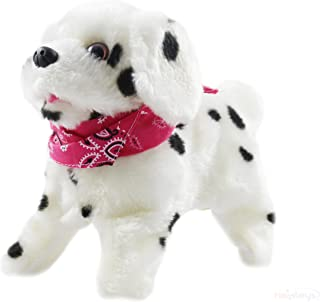 "Haktoys Flip Over Puppy | Battery Operated Somersaulting, Walking, Sitting, Mechanical Barking Electronic Plush Cute Animal Dalmatian Dog | 7"" Tall, Safe & Durable 