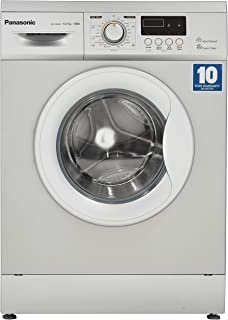 Panasonic 6 kg Fully-Automatic Front Loading Washing Machine (NA-106MC2L01, Silver, Inbuilt Heater)