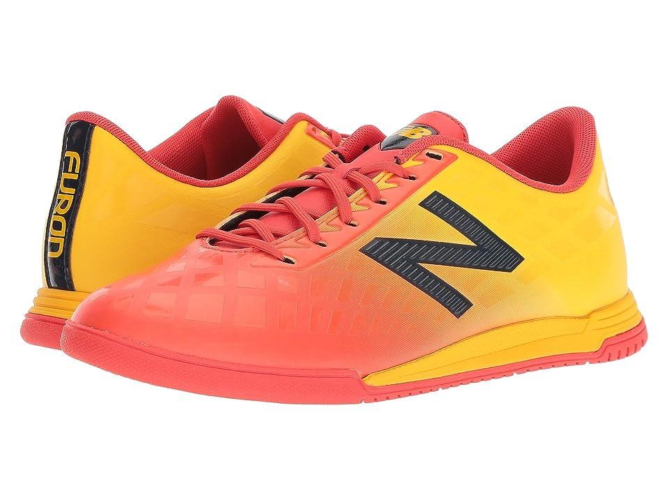 New Balance Kids JSFDIv4 Soccer (Little Kid/Big Kid) (Flame/Aztec Gold) Kids Shoes