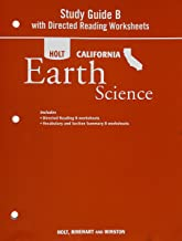 Holt Science & Technology: Study Guide B with Directed Reading Worksheets Grade 6 Earth Science