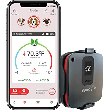 RV/Dog Safety Temperature & Humidity Sensor   4G Verizon Cellular   Wireless Remote Pet Temp Monitor with 24/7 Email/SMS Alerts   No WiFi Required   iOS/Android compatible