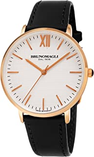 Bruno Magli Women's Roma 1222 Swiss Quartz White Dial with Italian Leather Strap Watch
