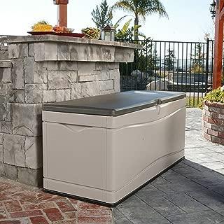 130 Gallon Plastic Deck Storage Box, Resistant Outdoor Furniture