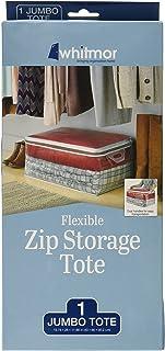 Whitmor Flexible Zip Storage Tote Jumbo