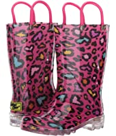 Western Chief Kids - Cutie Leopard Lighted PVC Boot (Toddler/Little Kid)
