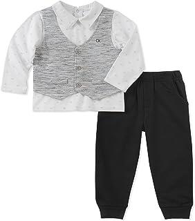 Calvin Klein - Juego de Pantalones para bebé (2 Piezas, 3 Piezas), diseño de calcetín