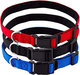 Pets Lovers Club Premium Dog Collars | Reflective Lines for Safer Night Walks | Padded Webbing Protects Dogs from Rashes | Weather-Proof Material Will Not Bleed Color | BOGO Sales